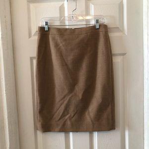 J.crew Pencil 100% wool pencil skirt